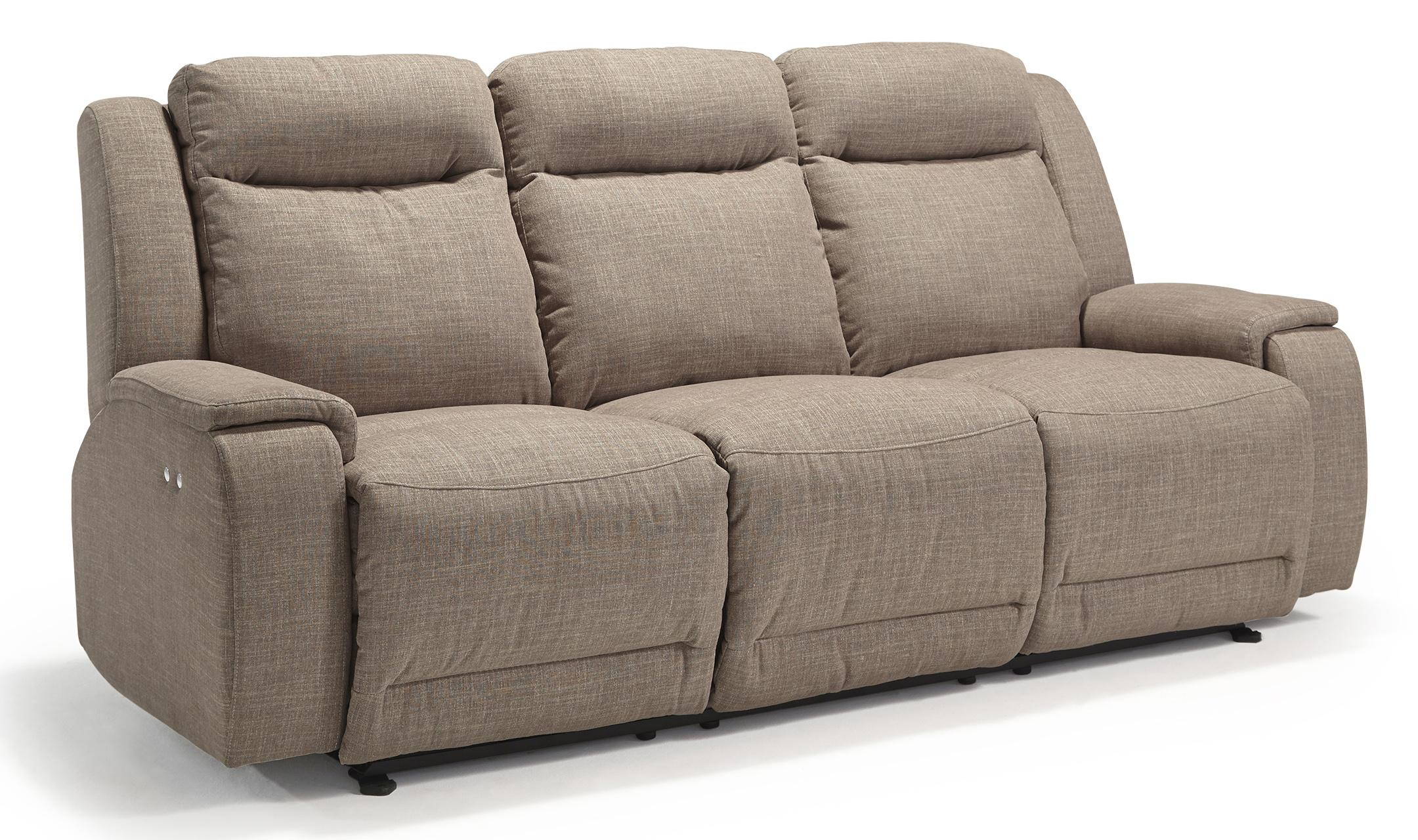 Casual Power Reclining Sofa With Memory Foam Cushions By Best Home Furnishings Wolf And