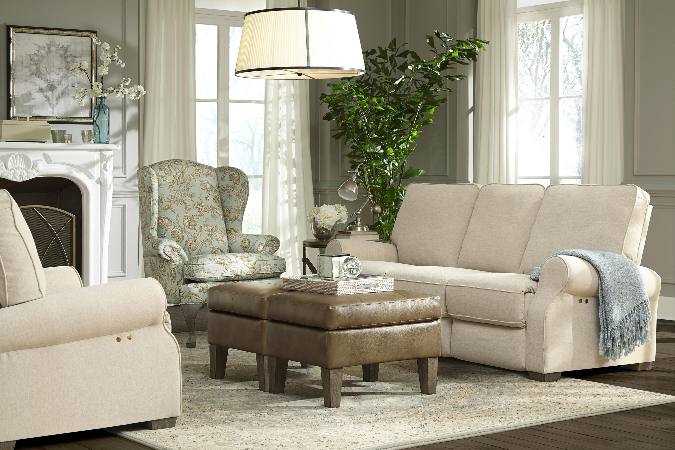 Home Furnishings Traditional Power Reclining Sofa With High Legs By Best Home