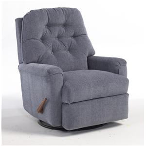 Best Home Furnishings Recliners - Medium Cara Swivel Glider Recliner