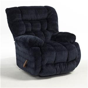 Best Home Furnishings Recliners - Medium Plusher Power Rocker Recliner