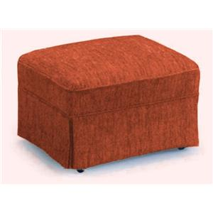 Best Home Furnishings Ottomans Skirted Glide Ottoman