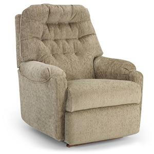 Best Home Furnishings Recliners - Petite Swivel Rocker Recliner