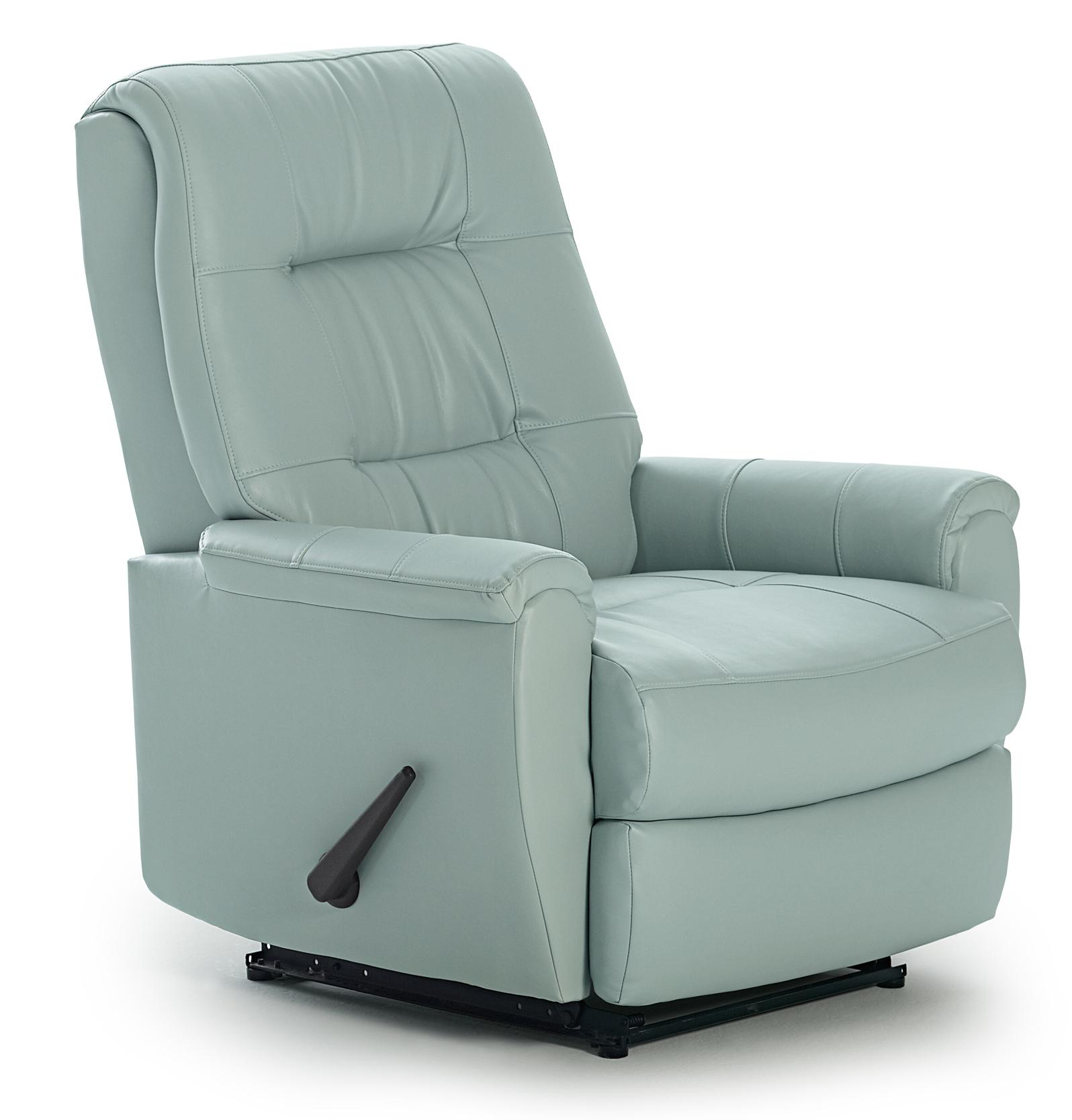 Felicia swivel rocker recliner with button tufted back by for Best home furnishings