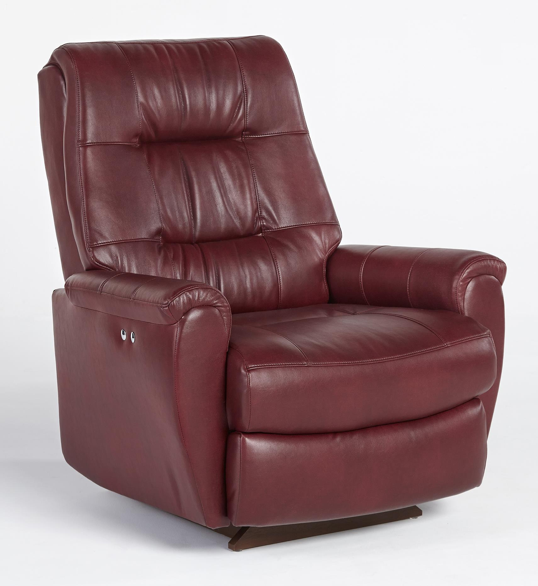 Felicia Swivel Rocker Recliner with Button-Tufted Back by ...