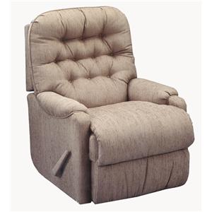 Best Home Furnishings Recliners - Petite Brena Swivel Rocker Recliner