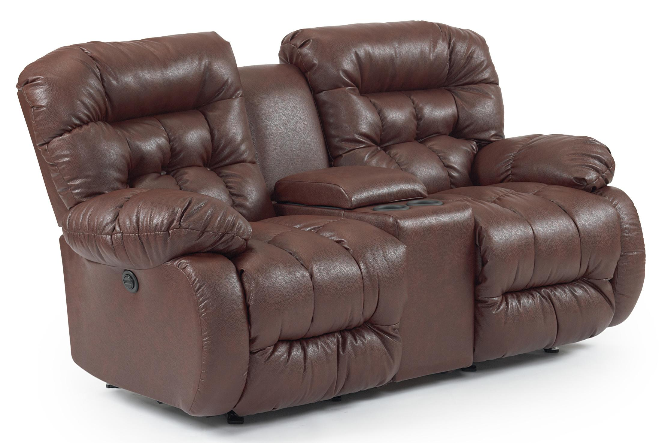 Power Rocker Reclining Loveseat With Drink Console By Best