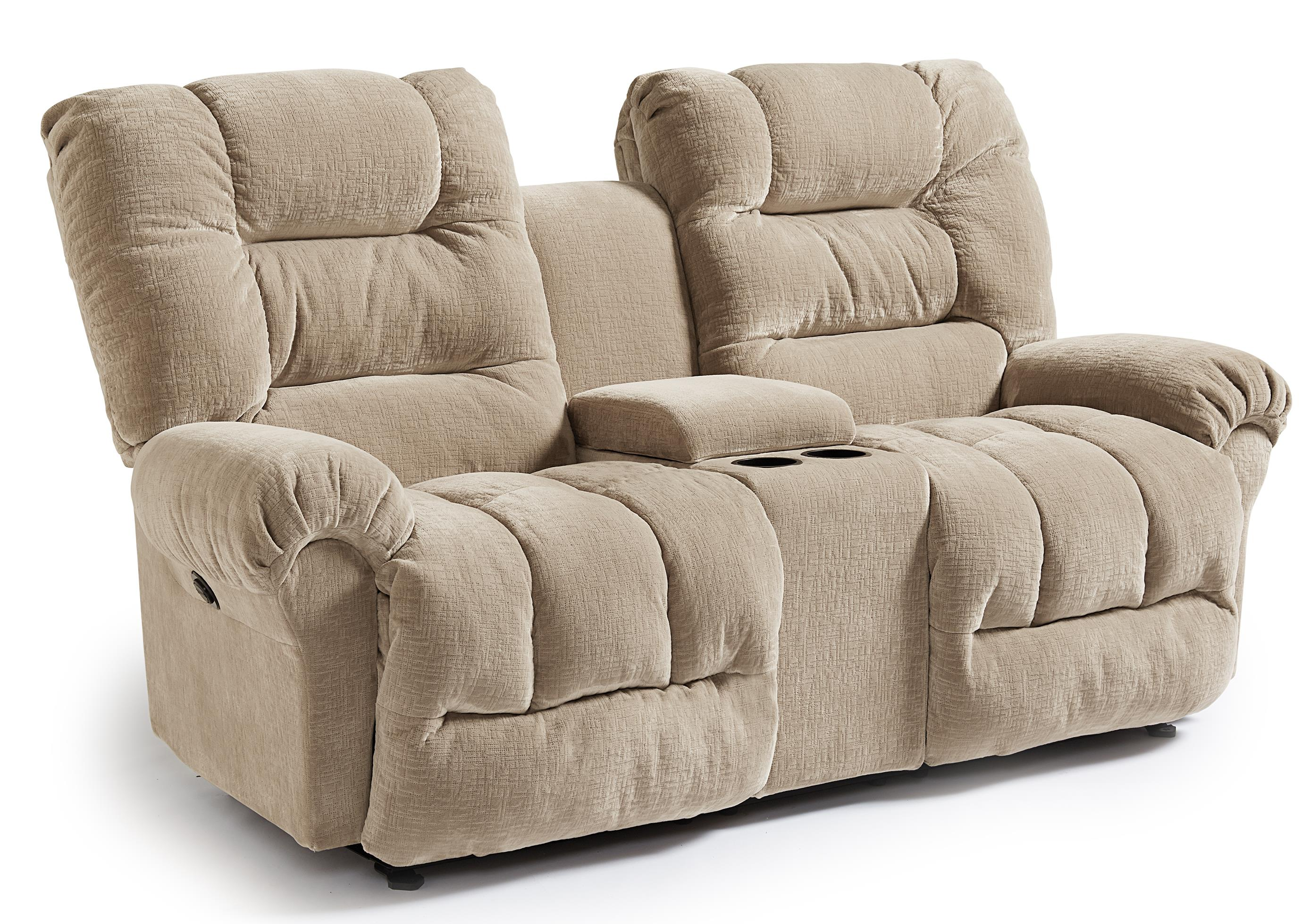 Casual power rocking reclining loveseat with cupholder console by best home furnishings wolf Rocking loveseats