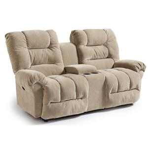 Best Home Furnishings Seger Rocking Reclining Loveseat w/ Console