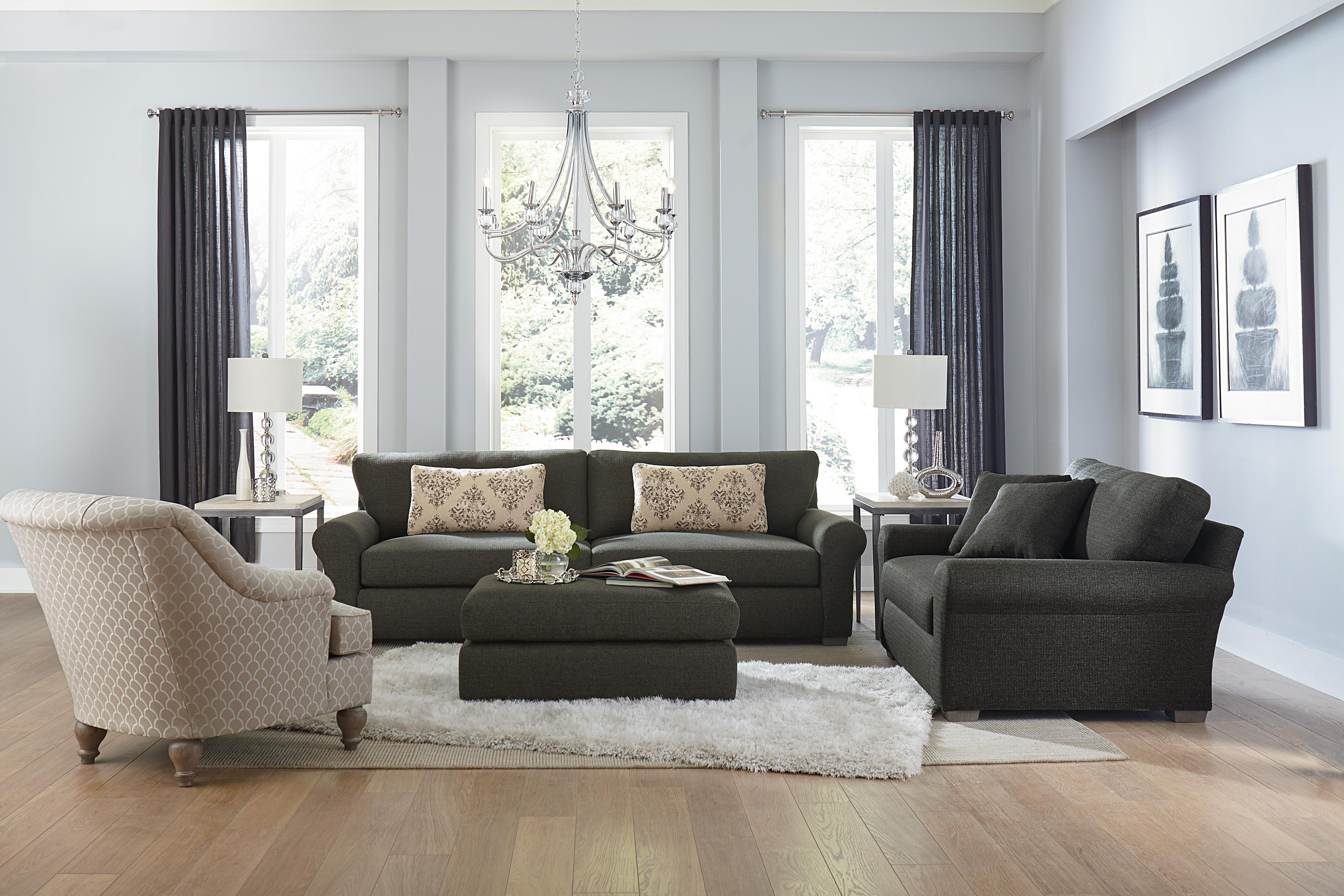 Transitional Wide Sofa with Removable Cushions by Best Home ...