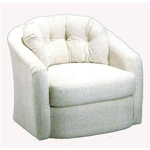 Best Home Furnishings Chairs - Swivel Barrel Sanya Swivel Barrel Chair