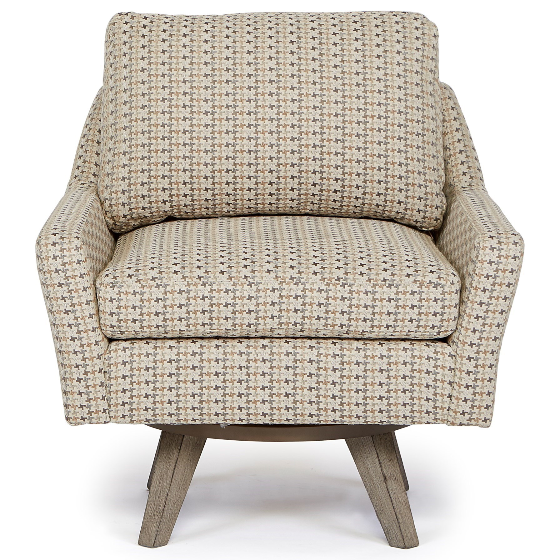 Seymour Mid Century Modern Chair with Swivel Base by Best Home