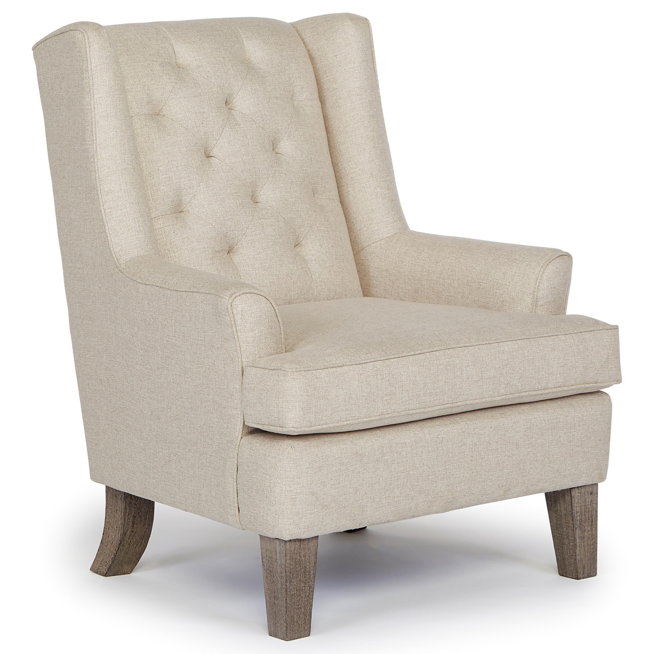 Elegant Rebecca Wing Chair With Tufted Back