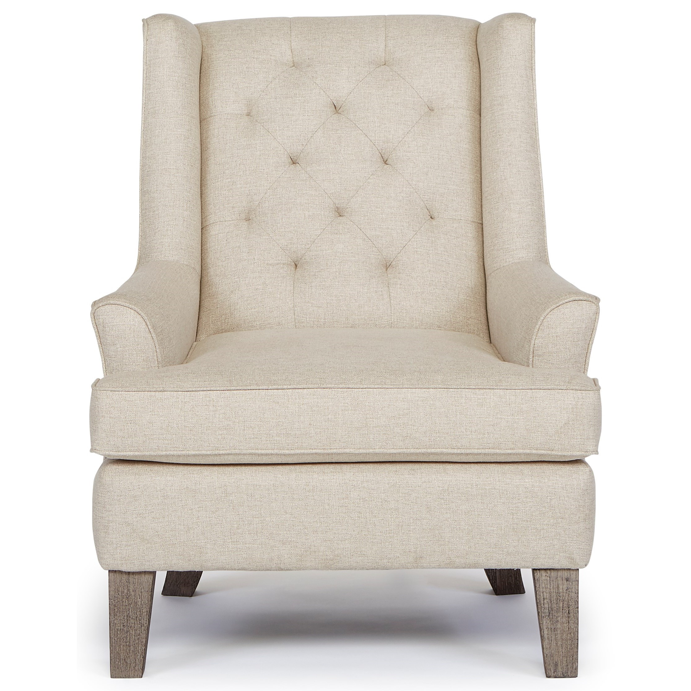Rebecca Wing Chair with Tufted Back by Best Home Furnishings