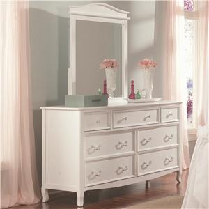 Vendor 3413 Emma Emma Dresser and Mirror Set
