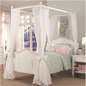 Vendor 3413 Emma Emma Twin Four Poster with Tall Headboard