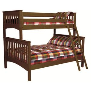 Vendor 3413 Loft Systems and Platform Beds Twin Over Full Bunk Bed