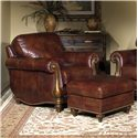 Bradington Young Sheffield Chair and Decorative Ottoman