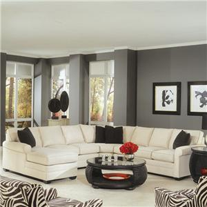 Braxton Culler 728 4 Piece Sectional with Sofa Sleeper