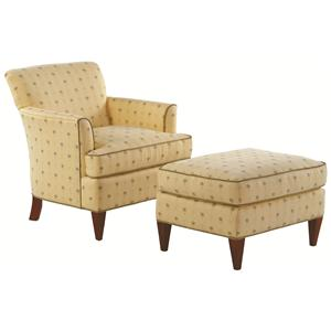 Braxton Culler Accent Chairs Tuscany Chair with Sloane Ottoman