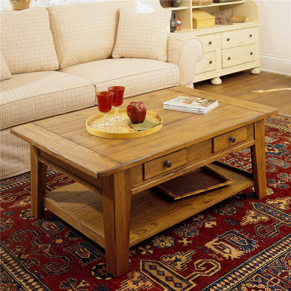 Rectangular Cocktail Table By Broyhill Furniture Wolf