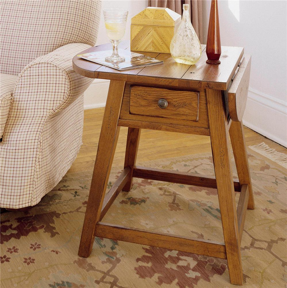 Splay leg end table with 1 drawer and drop leaf top by broyhill splay leg end table with 1 drawer and drop leaf top geotapseo Gallery