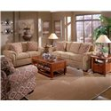 Broyhill Furniture Cambridge Casual Style Loveseat with Nail Head Trim - Loveseat Shown with Sofa.