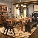 Broyhill Furniture Attic Heirlooms 7 Piece Dining Set - Item Number: 5397-42+2x84b+3x85b+96