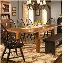 Broyhill Furniture Attic Heirlooms 7 Piece Dining Set - Rectangular Leg Table