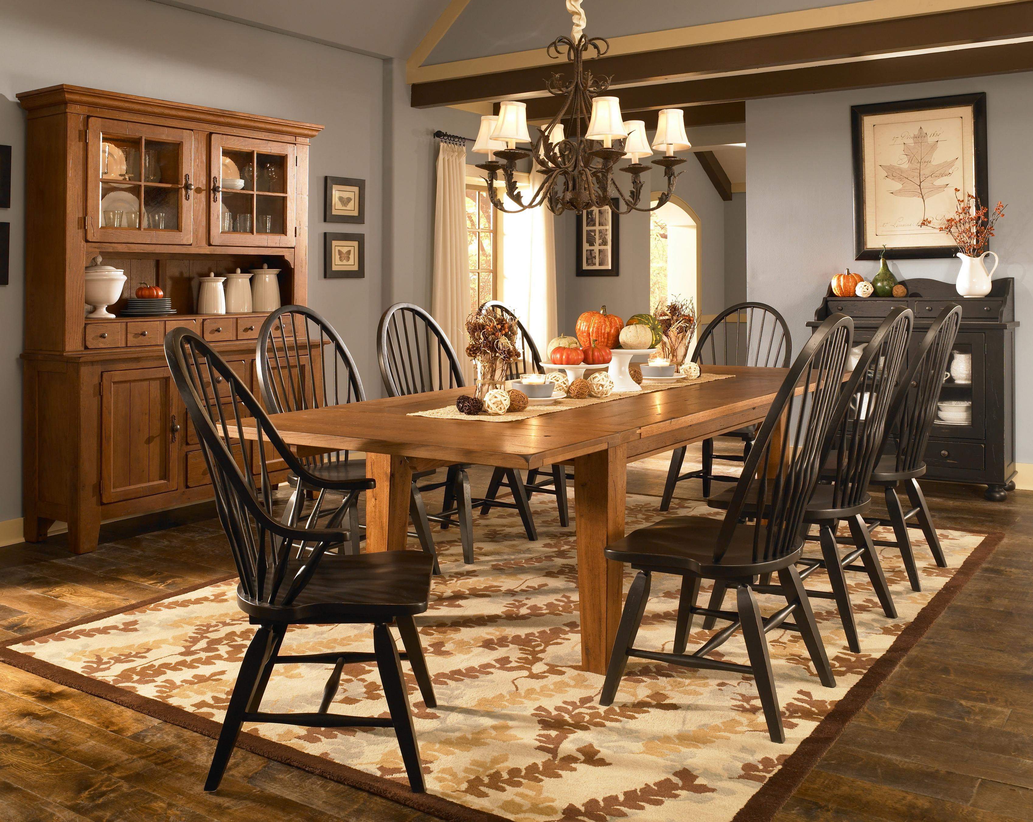Leg Dining Table With Leaves by Broyhill Furniture | Wolf ...