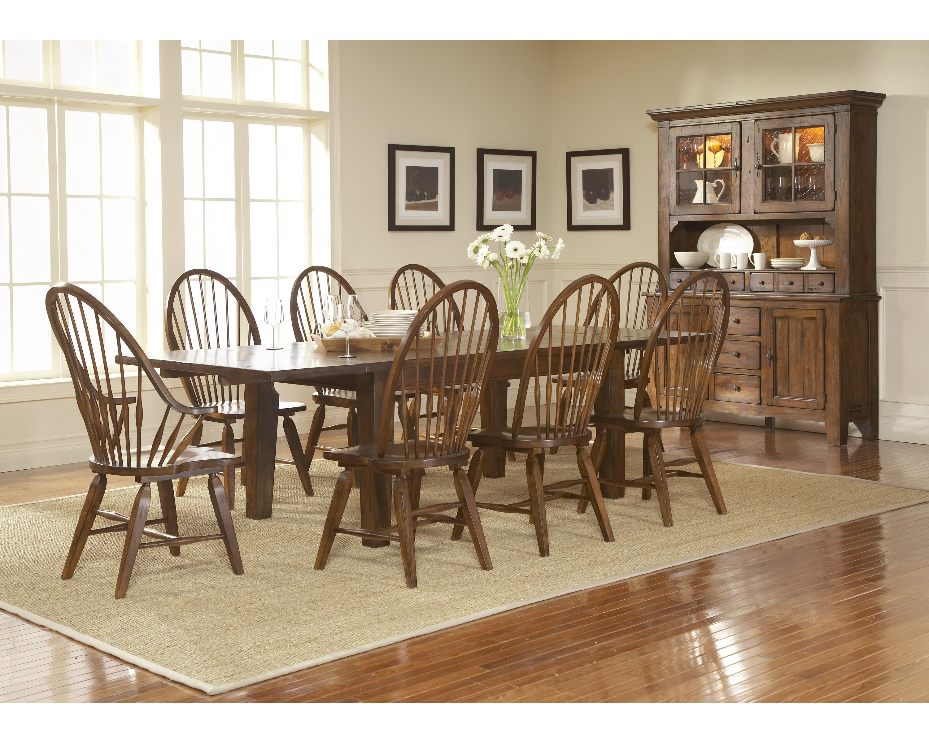 Leg Dining Table With Leaves By Broyhill Furniture Wolf And - Broyhill fontana dining room set