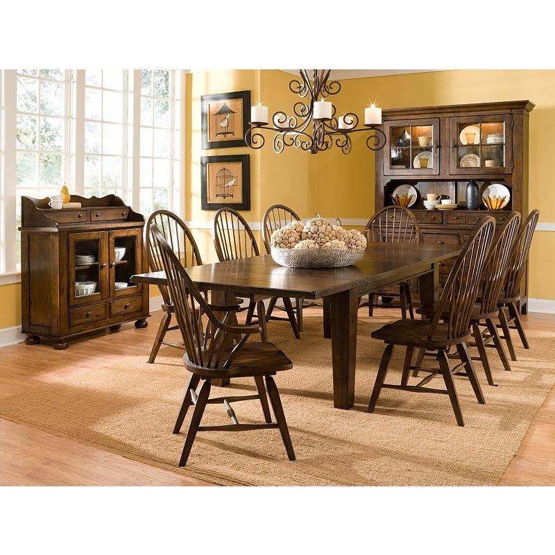 Leg Dining Table With Leaves By Broyhill Furniture