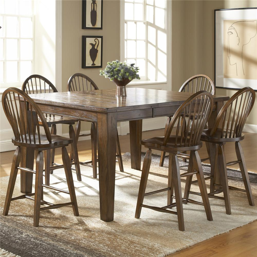 Broyhill Attic Heirloom Dining Table Windsor Counter Stool By Broyhill Furniture Wolf And Gardiner