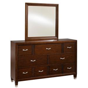 Broyhill Furniture Eastlake 2 Drawer Dresser with Landscape Dresser Mirror