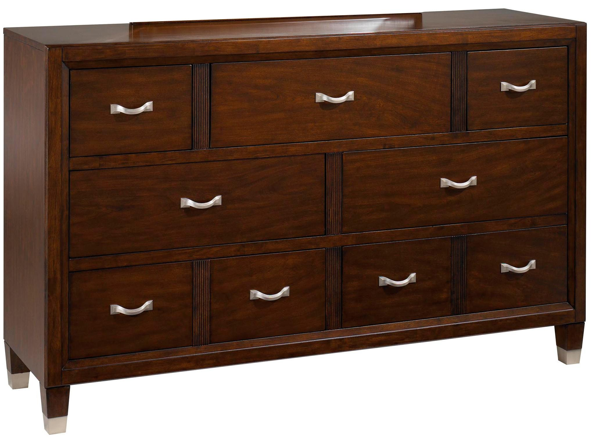 Drawer Dresser with 7 drawers and Felt Lined Top Drawers by