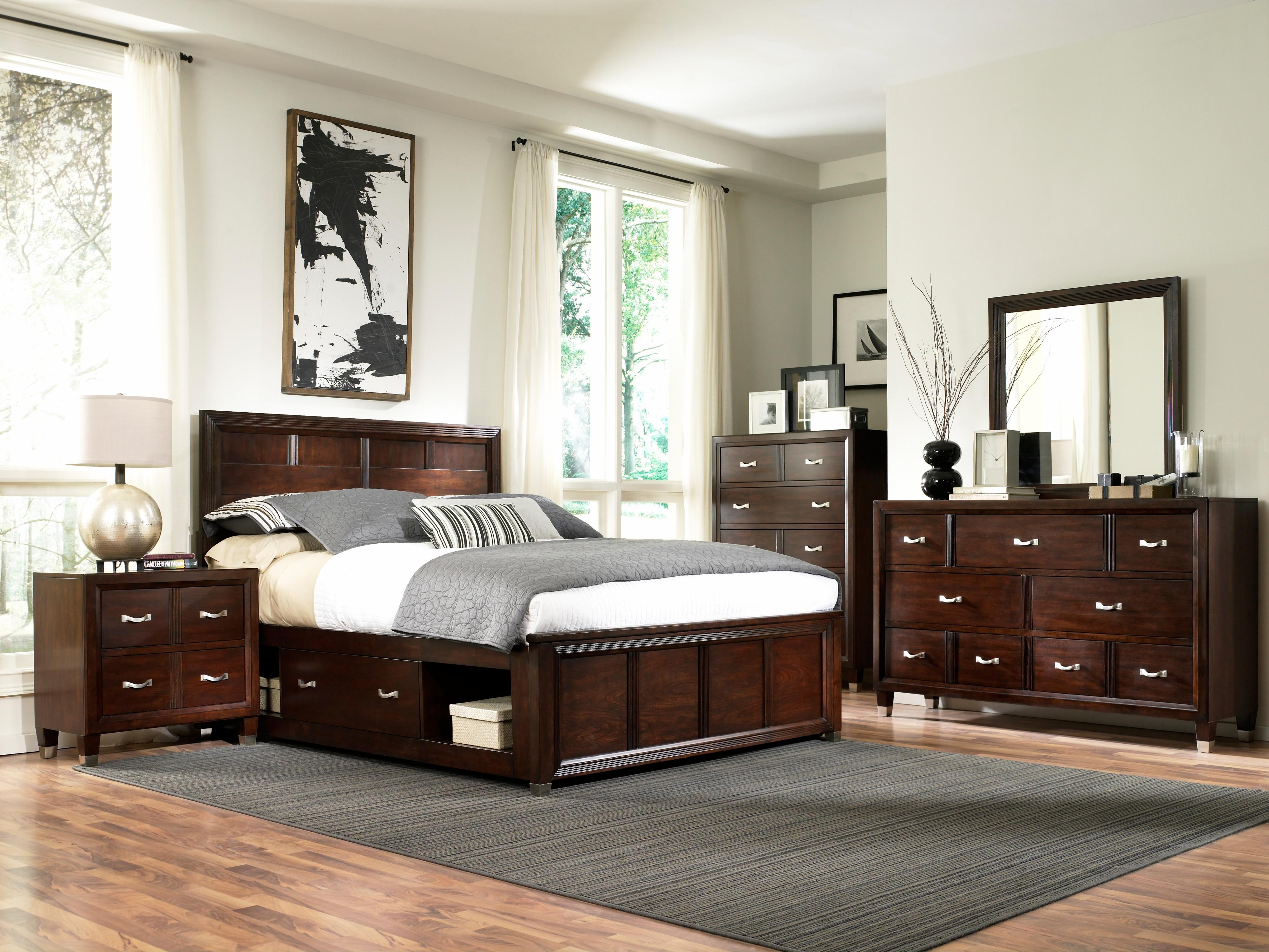 king captain's bed with single storage side rail by broyhill  - king captain's bed