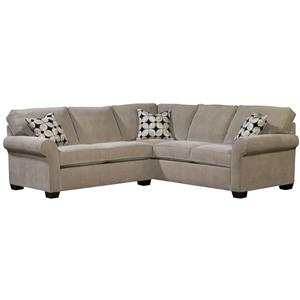 Broyhill Furniture Ethan Two Piece Sectional with LAF Sleeper