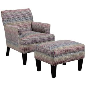 Broyhill Furniture Evie Chair and Ottoman Set
