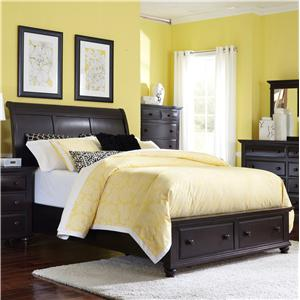 Broyhill Furniture Farnsworth Queen Sleigh Bed with Storage