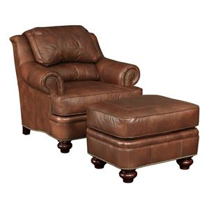 Broyhill Furniture Hamilton  Traditional Chair and Ottoman Set