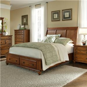 Broyhill Furniture Hayden Place Queen Sleigh Headboard Footboard Storage Bed