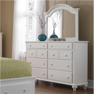 Broyhill Furniture Hayden Place Drawer Dress and Arched Mirror