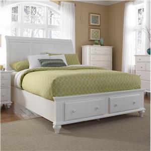 Broyhill Furniture Hayden Place Queen Sleigh Headboard Footboard Storage Bed