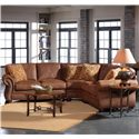 Broyhill Furniture Laramie 3 Piece Wedge Sectional Sofa - Shown in Room Setting