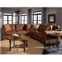 Broyhill Furniture Laramie 3 Piece Wedge Sectional Sofa - Shown in Living Room Setting