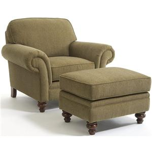 Broyhill Furniture Larissa Stationary Chair and Ottoman