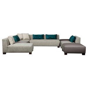 Broyhill Furniture Milo Contemporary Sectional Sofa
