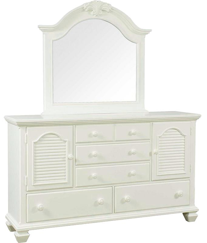 Traditional Door Dresser with Mirror by Broyhill Furniture | Wolf ...