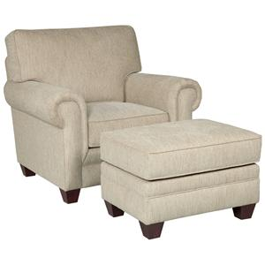 Broyhill Furniture Monica Chair and Ottoman