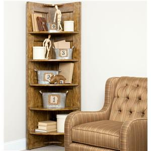 Broyhill Furniture New Vintage Corner Nik-Nak Shelf