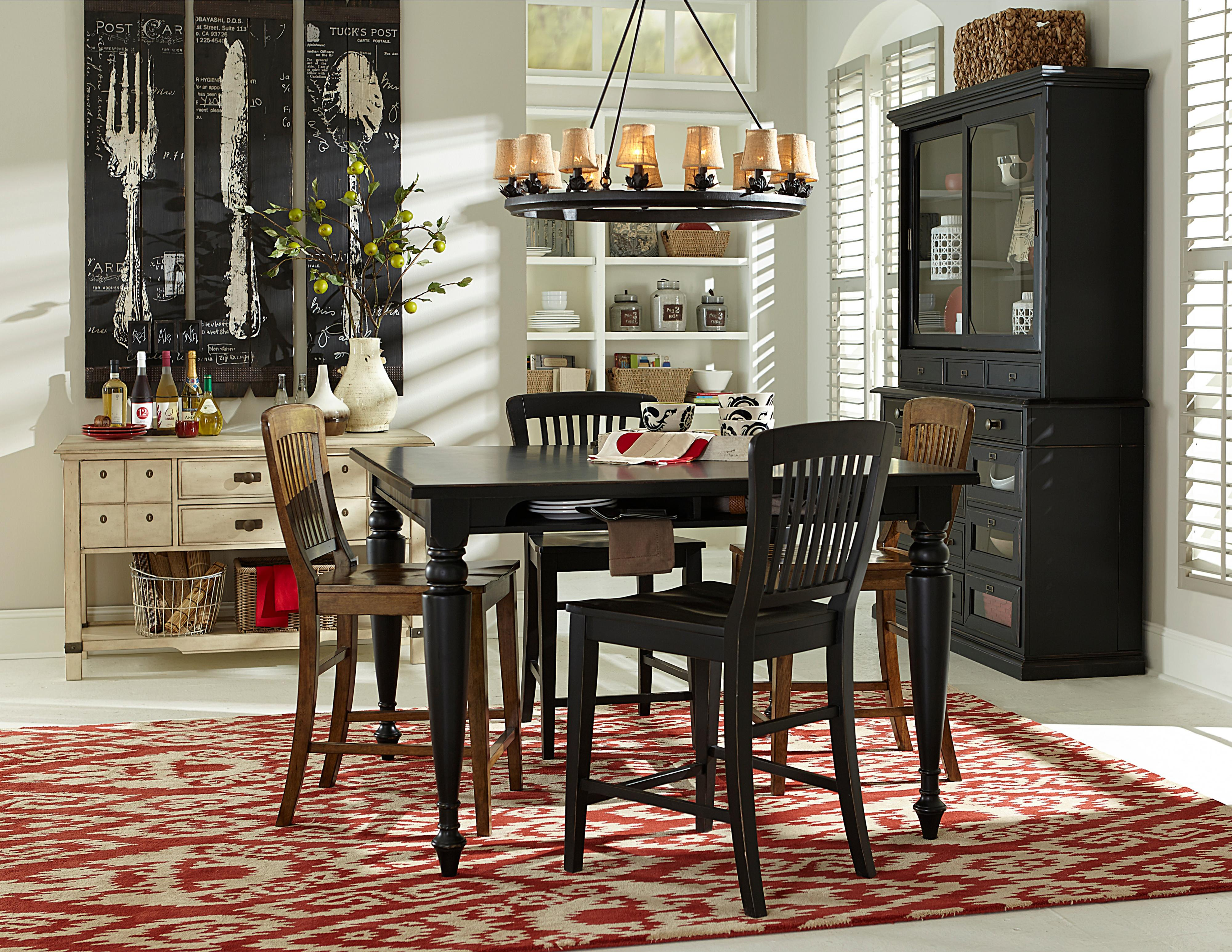 Counter Height Gathering Table With Storage Compartments By - Broyhill counter height dining set